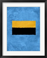Blue and Square Theme 1 Framed Print