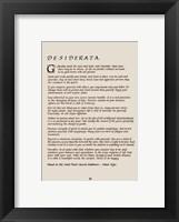 Framed Desiderata