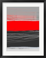 Abstract Stripe Theme Red Framed Print