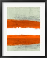Abstract Stripe Theme White Framed Print