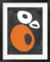 Abstract Oval Shapes 1 Framed Print
