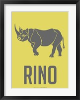 Rhino Grey Framed Print