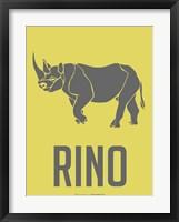 Framed Rhino Grey