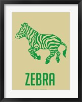 Zebra Green Framed Print
