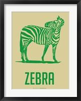 Zebra Green 2 Framed Print
