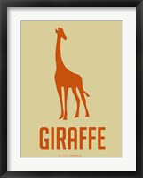 Giraffe Orange Framed Print