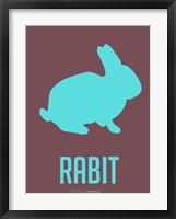 Framed Rabit Blue