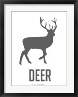 Deer Black Framed Print