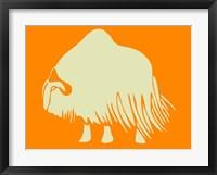 White Ox Framed Print