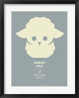 Yellow Sheep Multilingual Framed Print