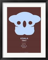 Framed Blue Koala Multilingual