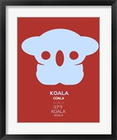 Framed Purple Koala Multilingual