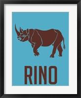 Framed Rhino Brown