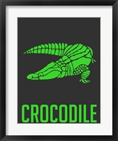 Framed Crocodile Green
