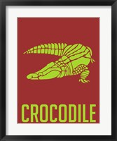 Framed Crocodile Yellow