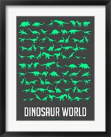 Framed Dinosaur Green