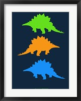 Framed Dinosaur Family 8