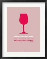 Framed Wine Red