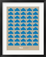 Framed Tea Lover Blue