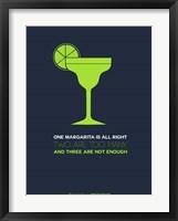 Framed Green Margarita