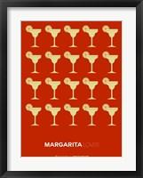 Framed Yellow Margaritas Brown