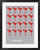 Framed Red Margaritas Grey