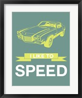 Framed I Like to Speed 3