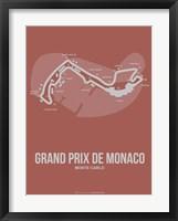Framed Monaco Grand Prix 1