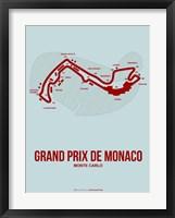Framed Monaco Grand Prix 3