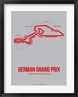 Framed German Grand Prix 1