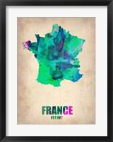 Framed France Watercolor Map