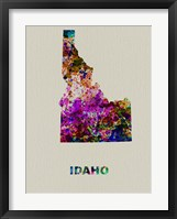 Framed Idaho Color Splatter Map