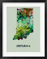 Framed Indiana Color Splatter Map