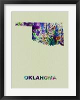 Framed Oklahoma Color Splatter Map