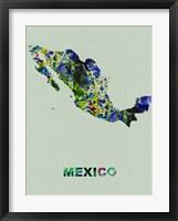 Framed Mexico Color Splatter Map