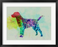 Framed Labrador Retriever Watercolor