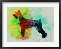 Framed Giant Schnauzer Watercolor