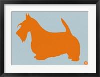 Framed Scottish Terrier Orange