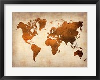 Framed World  Map 7