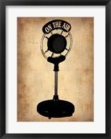 Framed Vintage Radio Microphone