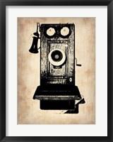 Vintage Phone 1 Framed Print