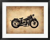 Framed Vintage Motorcycle 1