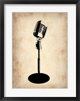 Framed Vintage Microphone