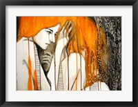 Framed Girl with Orange Hair