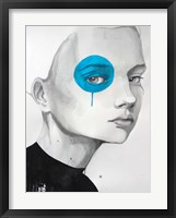 Framed Blue Dot