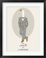 Framed Goose in Pin Suit
