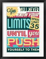 Framed Push Yourself To Your Limits