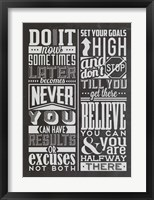 Framed Motivational Set Black
