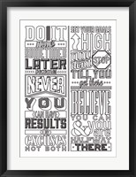 Framed Motivational Set White