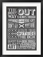 Framed Creativity Set Black